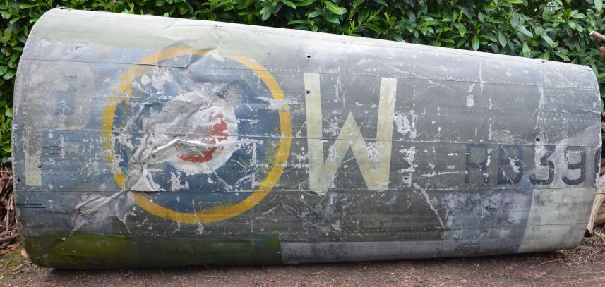 The Hawker Typhoon rear fuselage