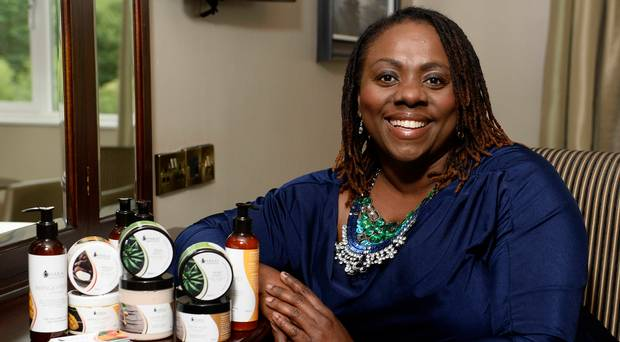 Dr Ava Brown with Chakai hair and beauty products