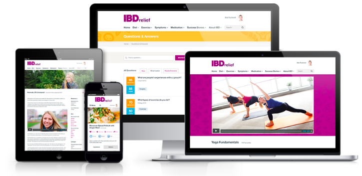 The crowdfunded IBD website which connects, supports and guides those affected by IBD