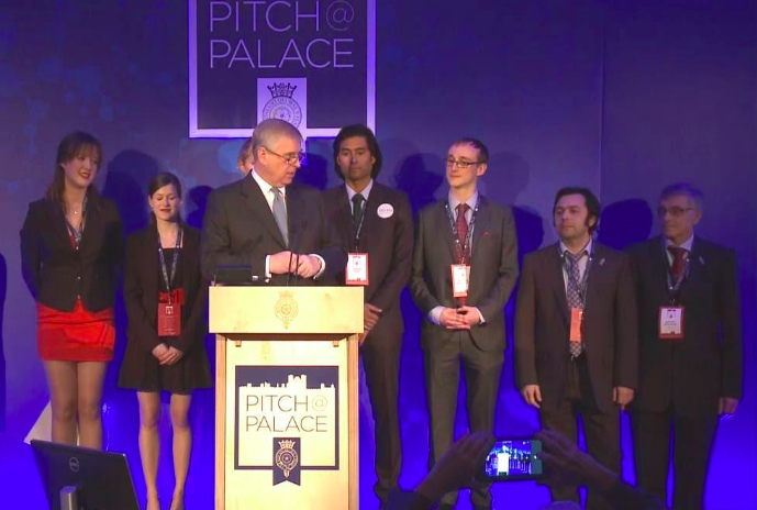 St.James's Palace March 9, 2016. From right to Left: D.Soloviev & M.Rossmann from Cambridge Oncometrix, other award winners and HRH The Duke Of York announcing the awards.