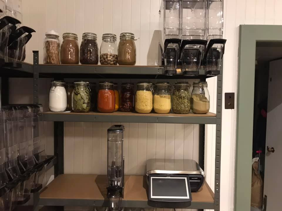 Produce from a zero waste shop