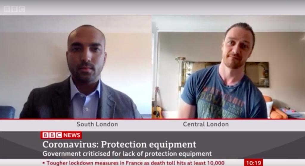 BBC Masks for NHS Heros - Live Broadcast
